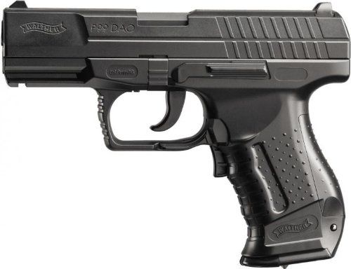 Walther Softair P99 DAO electric mit Maximum 0.5 Joule Airsoft Pistole, Schwarz, 180 mm -