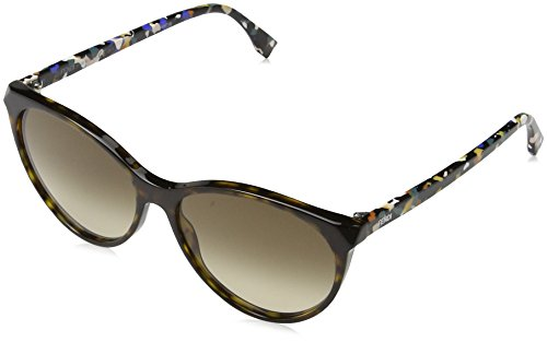 Fendi ff 0170/s cc tto 57, occhiali da sole donna, marrone (dkhvn multic/brown sf)