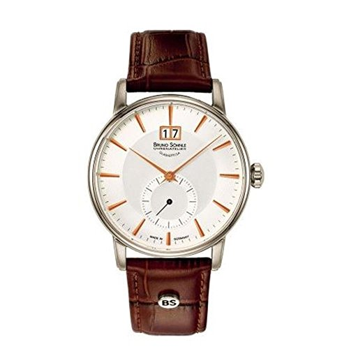 Bruno Söhnle Herren Analog Quarz Uhr mit Leder Armband 17-13055-245