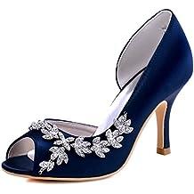 Partito Tacco D'orsay Hp1542 Pompe Scarpe Toe Elegantpark Satin Strasss Spillo Donna Peep A qpEC8wdHx