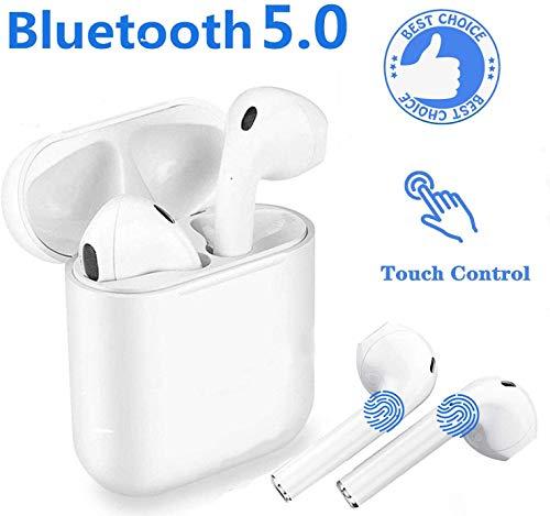DENGC Cuffie Bluetooth 5.0, Wireless Auricolari Bluetooth audio 3D Surround Cuffie sportive IPX11 impermeabili Cuffie Microfono...