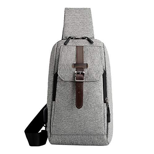 XZDCDJ Männer Crossbody Tasche Brusttaschen Herren Hüfttasche Männer Sport Oxford Tuch Brusttasche Outdoor Leicht Freizeit Multifunktionstasche Grau -
