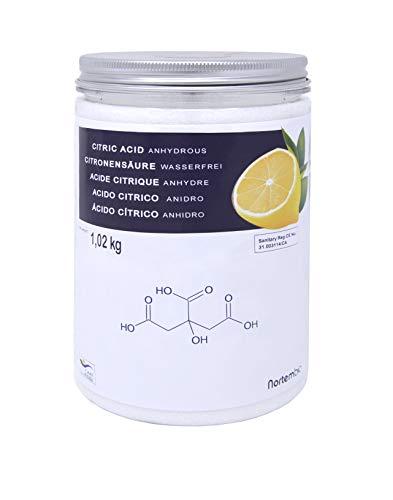 Zitronensäure 1 kg, Reine Lebensmittelqualität. NortemBio. In Deutschlandentwickelt.