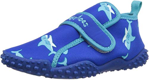 Playshoes Aquaschuhe Hai mit höchstem UV-Schutz nach Standard 801 174773, Unisex - Kinder Dusch- & Badeschuhe, Blau (original 900), EU 26/27