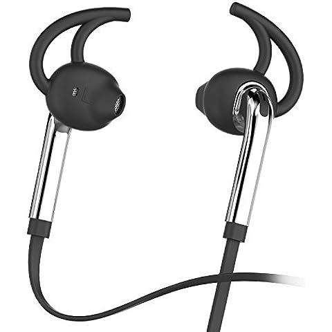 HonstekX7 Auriculares en la oreja los auriculares auriculares con micrófono y control de volumen, Deporte Running Sweatproof con cable Auriculares con graves potentes y Jack