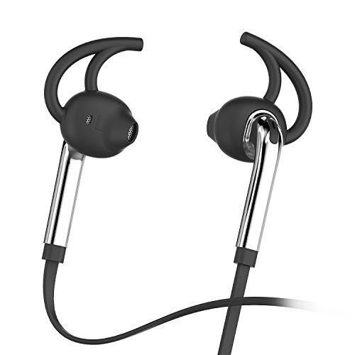 Honstek X7 Auricolari In-Ear auricolari delle cuffie con microfono e controllo del volume, di sport che funziona sweatproof filo Cuffie con bassi potenti e 3.5mm Jack(Argento)