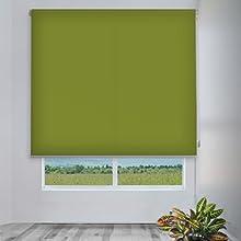Comprar CORTINADECOR - Estor enrollable cortitrans para ventanas y puertas verde 2131