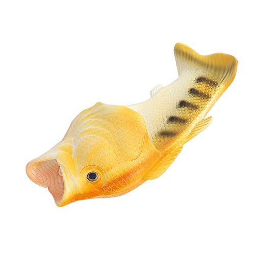 Unisex Kangrunmy Casa Spiaggia Verde Figli 1 Paio Giallo Ciabatte Sulla Soldi Di Pesce Adulti Sandali UfSqwdB