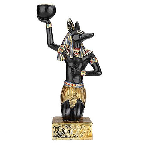 El paquete incluye: 1 portavelas de resina egipcia. El maravilloso vestido evoca el anhelo para el antiguo Egipto. Exquisita artesanía, rico sabor antiguo egipcio, la gente tiene el deseo de sentir el misterio detrás de él. Un diseño único y novedoso...