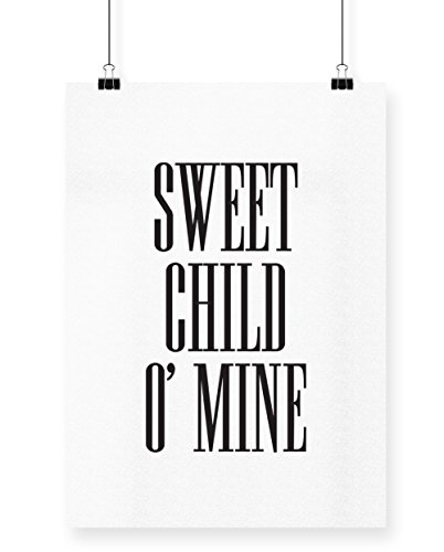 Design Classic Tote (hippowarehouse Sweet Child O 'Mine Poster Druck Wall Art Design, weiß, A3)
