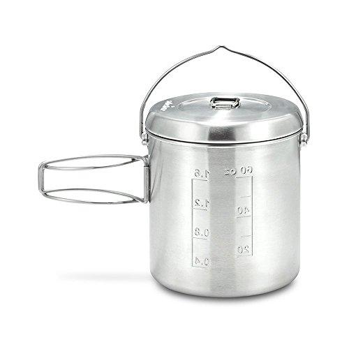 Solo Stove Pot 1800: Edelstahl-Kochtopf für den Solo Stove Titan. Toll für Backpacking, Camping, Überlebenstraining