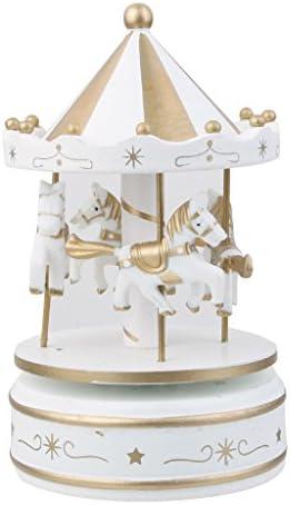 Boîte à Musique Carrousel Musical Femmeège Joyeux Jouet Cadeaux pour  s En Bois Merry-go-round | élégante Et Gracieuse