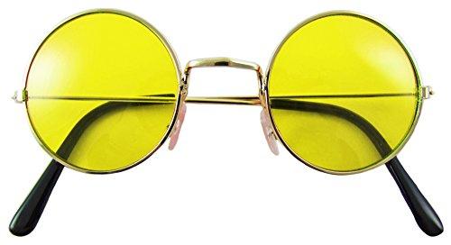 Lennon Brille Nickelbrille - (80er Kostüm Jahre Metall)