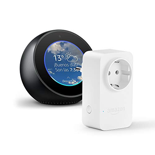 Amazon Echo Spot, negro + Amazon Smart Plug, compatible con Alexa
