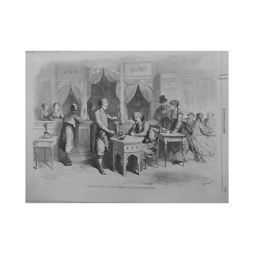 1867 MI17/8 CAFE TURC DIVAN SOPHA NARGUILE LIQUEUR BOSPHORE EUROPEEN EXPOSITION