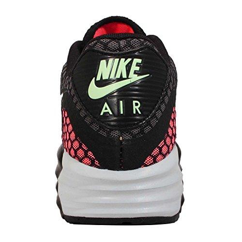 Nike Air Max Lunar90 Breeze, black-silver-hot lava-viper green Noir-Orange