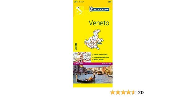 Cartina Veneto Michelin.Amazon It Veneto 1 200 000 Map Michelin Travel Publications Libri