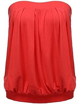 ZANZEA Mujer Camisetas Camisa Shirt Blusa Sin Hombros Sin Mangas Tops Off Shoulder Verano Casual