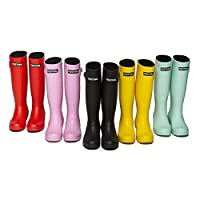 Festival Womens Ladies Girls Tall Rubber Neoprene Lined Wellington Welly Boots