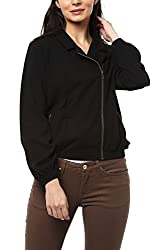 Allen Solly Womens Jacket (AWJK517T04726_Black Solid_X-Small)