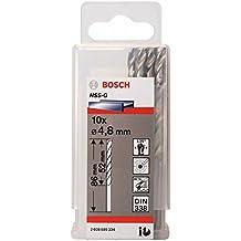 Bosch 2 608 595 334  - Broca para metal HSS-G, DIN 338 - 4,8 x 52 x 83 mm (pack de 10)