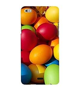 Colourful Easter Eggs 3D Hard Polycarbonate Designer Back Case Cover for Micromax Canvas Sliver 5 Q450