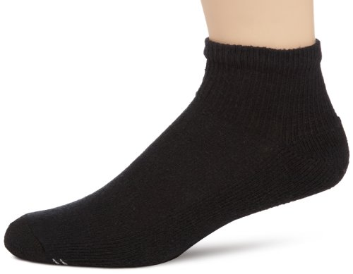Champion Double Dry® Performance Men's Quarter Socks 6-Pack 10-13 Black (6-pack Quarter Sock)