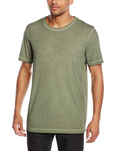 Whyred Herren T-Shirt Art Oil Dye Grün (Green)