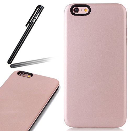 Custodia Cover per iPhone 6 plus iPhone 6S plus Case ,Ukayfe 2 in 1 Ultra Slim Casa per iPhone 6 plus iPhone 6S plus,Protettiva Custodia stampato Design PC+ Silicone ibrido impatto grande Difensore cu Rose Gold 4#