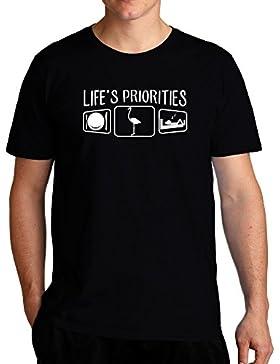 Eddany Life's priorities Flamingo Camiseta