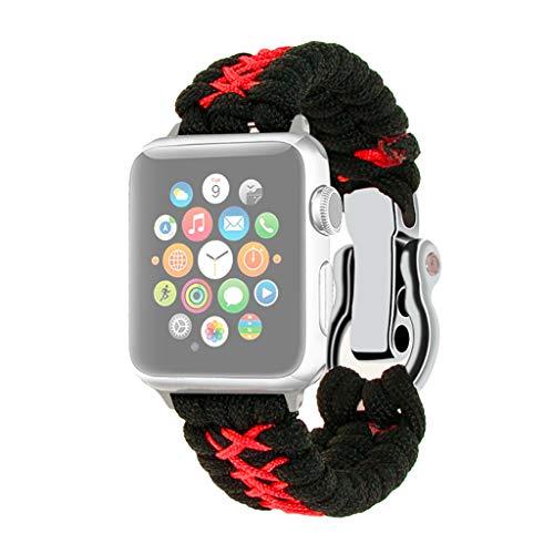 Kompatibel mit Apple Watch Armband 42mm/44mm,Nylon Gewebt Premium Nylon atmungsaktive Armbänder fur i watch Series 4 3 2 1,Sport Uhrenarmband verstellbares Ersatzband mit in 4 Farben Nylon Uhren