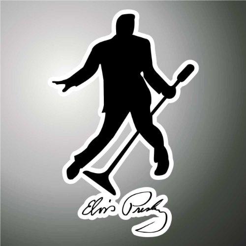 Aufkleber - Sticker Elvis Presley hip hop rap jazz hard rock metal pop funk sticker (Presley-dekorationen Elvis)