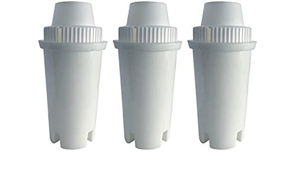 3 Count FBA/_TEK-BWF700-3 GoldTone Brand Water Filter Replaces Brita Water Filter Pitcher Classic Replacement Filters for Brita and Mavea