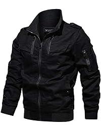 BaZhaHei Uomo Top,Giacca Invernale da Uomo Cool Giacca Militare Giacca Tattica Leggera e Traspirante Abbigliamento Materiale Super Resistente per Creare Un Caldo Inverno