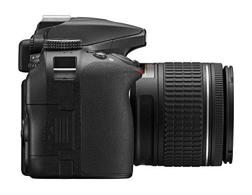 Nikon D3400 24.2 MP Digital SLR Camera (Black) with AF-P DX NIKKOR 18-55mm f/3.5-5.6G VR Lens Kit with Memory Card and Camera Bag