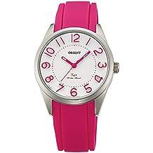 f0fd34eed889 Orient Reloj Analógico para Mujer de Cuarzo con Correa en Caucho FQC0R009W0