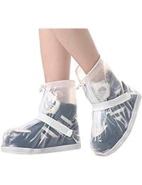 Cubrezapatillas Impermeable Botas de Agua - Cubiertas de Zapatos Antideslizante Lluvia Botas Reutilizables Calzado Fundas de Lluvia para Zapatos Mujeres Hombres Moto Cicleta