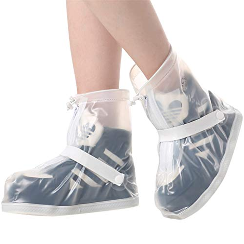 Zilee Regen Schuhüberzieher Überschuhe Wasserdichte - Unisex Regen Stiefel Wiederverwendbare Schnee Schuhe Anti-Rutsch Regenkombi Erwachsene