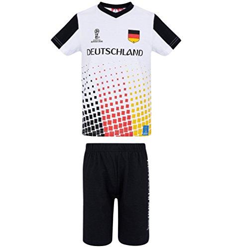 FIFA WM 2018 Set T-Shirt und Kurze Hose 98 104 110 116 122 128 134 140 146 152 Shorts Kurz Set Jungen Duetschland (122-128)