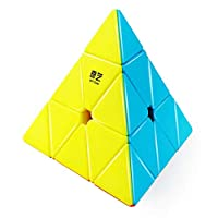 Qiyi Qiming Pyramid Stickerless Speed Cube Triangle Cube Puzzle Toys
