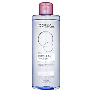 Agua micelar L 'Oreal Paris para piel sensible, normal y seca 400 ml