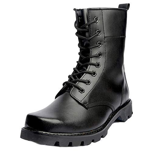 LIUYL Mens Military Wanderschuhe High-Top-Schuh Martin Stiefel Stahlkappe Schuhe Sicherheitspolizei Stiefel wasserdichte Trekkingstiefel,Black-40