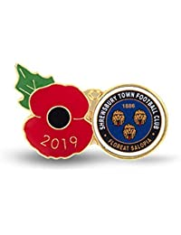 The Royal British Legion Shrewsbury Poppy Football Pin 2019