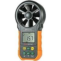 Peakmeter MS6252A Handheld Digital Anemometer LCD-Hintergrundbeleuchtung Air Wind Speed Geschwindigkeit Meter