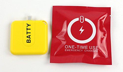 Batty One 2 Stück Not Akku Batterie für Smartphone iPhone Samsung Galaxy 1000 mAh