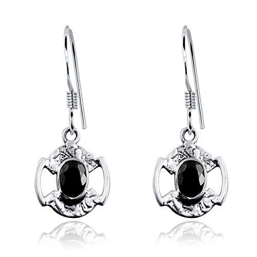 Orchid Jewelry 1.9 Ctw Ovale Blu Zaffiro Lunetta-Setting | Orecchino In Argento Sterling 925 | Bellissimo E Semplice Regalo Di Compleanno Senza Nichel Per Lei