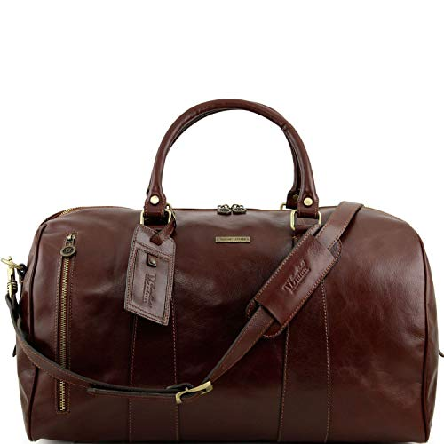 Tuscany Leather TL Voyager Sac de voyage en cuir - Grand modèle Marron