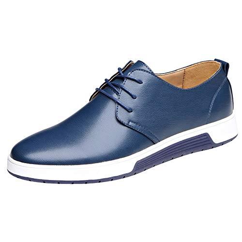 OSYARD Homme Derby de Cuir Souple Chaussures Business Derbies de Ville à Lacets Ville Mocassins