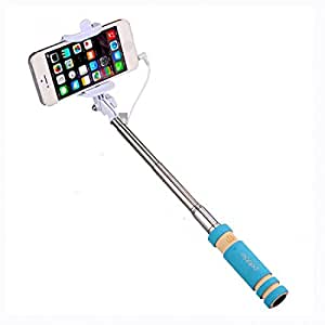 Rich Walker Compact Selfie Stick Monopod Holder Compact Pocket Size Wired for All Android Mobiles & Micromax Canvas 4