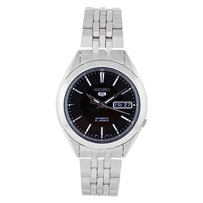Seiko Watches SNKL23 - Reloj de Pulsera Hombre, Acero Inoxidable, Color Plata